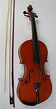 A 19th century French violin, labelled Vuillaumy a