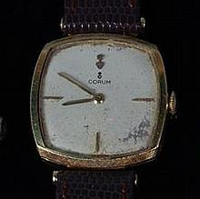 A Corum gents 18ct gold cased dress watch, having