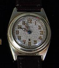 A Harwood gents rolled gold cased wristwatch,