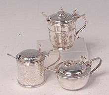 An Edwardian silver lidded preserve pot, of spot