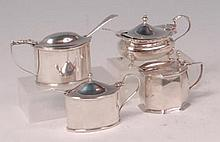 A George V silver preserve pot, of bellied