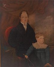 Mid-19th century English school - Family portrait
