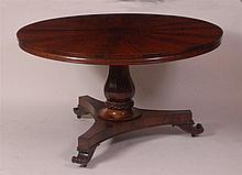 A William IV flame mahogany veneered pedestal