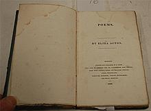 ACTON Eliza, Poems, Ipswich, R.Deck 1826, 1st