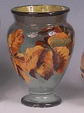 A Doulton Lambeth Impasto vase, decorated by Rosa