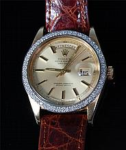 A gents Rolex 18ct gold Oyster Perpetual day/date