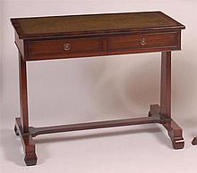 A George IV mahogany writing table, having gilt