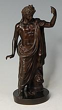 A late 19th century French bronze classical figure