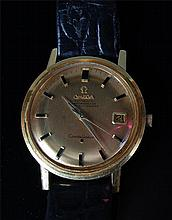 A gents late 1960s 18ct gold Omega Seamaster