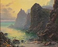 Garstin COX (1892-1933), Oil on board, Kynance on the Lizard Coast Cornwall