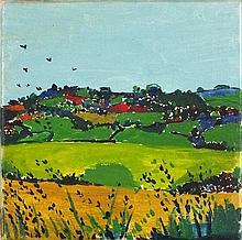 * Philip SUTTON (b.1928), Oil on canvas, 'Cornish Landscape', Inscribed, si