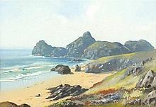 Harold GORDON (Exhibited 1906-1907), Watercolour with body colour, Kynance