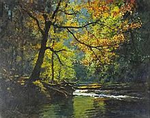 Stephen CUMMINS (b.1943), Acrylic on canvas, 'Frenchman's Creek, Helford',