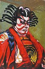 Joan RILEY (1920-2015), Oil on board, Kabuki actor, Unsigned, Unframed, 30