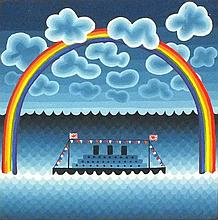 * Peter MARKEY (b.1930), Oil on board, Ocean liner under a rainbow, 6
