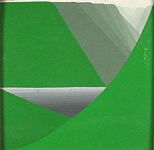 * Peter MARKEY (b.1930), Oil on board, Mountain lake, 11.5