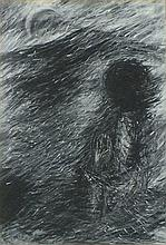* Rachael LEVINE (b.1957), Charcoal & conte, Untitled, Signed & dated 1991