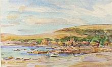 * Wilfred Gabriel de GLEHN (1870-1951), Watercolour, 'Helford River - Boats