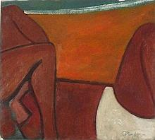 * Jack PENDER (1918-1998), Oil on board, 'Beach Farms', Inscribed & dated 1