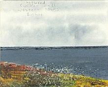 Pat ALGAR (1939-2013), Oil on board, Winter garden through the window, Sign