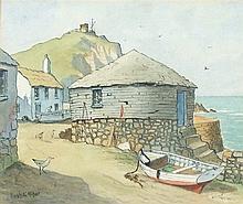 * Hugh E. RIDGE (1899-1976), Watercolour & ink, The Roundhouse Sennen, Sign