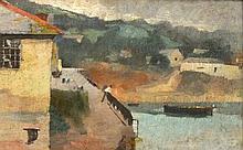 John Lees SUTHERS (1855-1924), (aka Leghe Suthers), Oil on board, Newlyn Ha