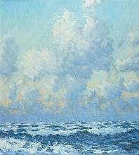 Robert JONES (b.1943), Oil on board, 'The North West Wind', Inscribed & sig