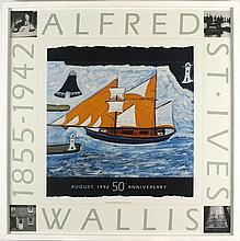 Alfred WALLIS Coloured Poster, 50th Anniversary Exhibition Tate Gallery, to