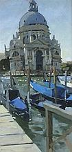 Ken HOWARD (b.1932), Oil on canvas, Santa Maria della Salute Venice, Inscri