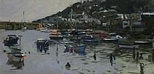 Ken HOWARD (b.1932), Oil on canvas, 'High water Mousehole', Inscribed to ve