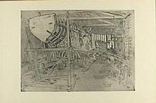 * Robert Borlase SMART (1881-1947), Etching & dry point, 'Boat Building', I