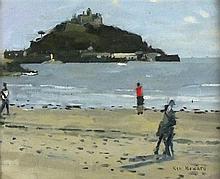 Ken HOWARD (b.1932), Oil on canvas board, 'Low Tide Marazion I', Inscribed