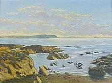 John STADDON (b.1946), Oil on canvas, 'Stepper Point on the Cornish coast',