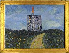 * Alec WALKER (1889-1964), Oil on canvas, 'Ding Dong' Mine, Inscribed & sig