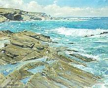 * Stewart LOWDON (b.1932), (Scottish School), Oil on canvas, 'Treyarnon Poi