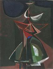 * John WELLS (1907-2000), Oil on canvas, 'Tertia in Die' (The Third Day), I