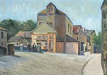 * Marjorie MORT (1906-1989), Oil on board, The Bakers Shop Newlyn Bridge, S