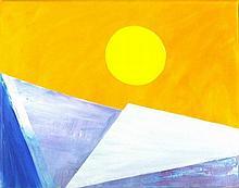 Chris BILLINGTON (b.1955), Acrylic on canvas, Winter Sun on Turner Contempo