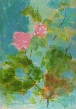 Joan RILEY (1920-2015), Watercolour & pastel, 'Rose on Paxos', Inscribed to