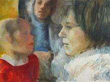 Joan RILEY (1920-2015), Oil on board, 'The Dream', Inscribed, Unframed, 18