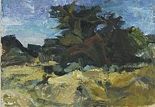 * Lucy HARWOOD (1893-1972), Oil on board, Specimen trees in a landscape, Si