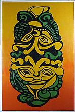* Peter WARD (1932-2003), Oil on canvas, 'Janus', Inscribed to verso, Signe