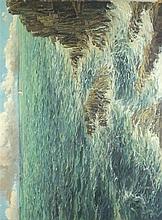 Richard WOOD (b.1950), Oil on canvas, 'Atlantic Swell near Pendeen' (Cornwa