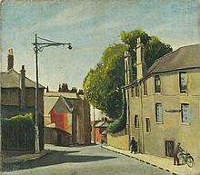 Cecil RILEY (1917-2015), Oil on canvas, 'Worcester Street Oxford 1942', Ins