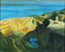 Joan RILEY (1920-2015), Oil on board, 'Silent Pool' - Penlee Quarry, Inscri