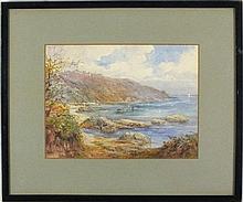 Grace H. HASTIE (1855-1930), Watercolour, 'Pendennis Point Falmouth', Signe