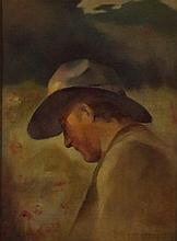 Grige G. RUNDLE, Oil on canvas, Head and shoulder portrait of a man wearing