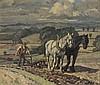 * Harold DEARDEN (1888-1962), Oil on canvas board, A team of two horses pul, Harold Dearden, £300