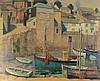 * Harold DEARDEN (1888-1962), Oil on canvas, Harbourside cottage & moored f, Harold Dearden, £500