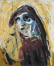 * Michael BROIDO (1927-2013), (St Ives School), Oil on canvas, Portrait of